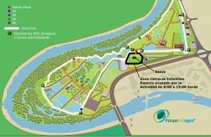 Localización en el Parque del Agua
